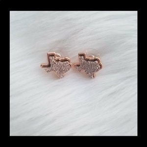 Jewelry - Sparkle Texas Stud Earrings in Rose Gold